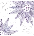circle ethnic feather vector image vector image