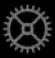 clock gear halftone icon vector image