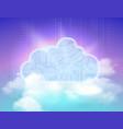cloud storage symbol vector image vector image
