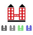 company building flat icon vector image vector image