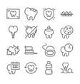 dental line icon set vector image