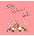 Design Valentines day background vector image vector image