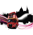 double decker bus vector image vector image