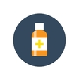 Flat Medical Syrup Bottle Icon vector image vector image