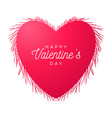 flower heart valentine day hand drawn hearts vector image