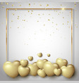 golden valentines day background vector image