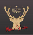 greeting card with silhouette of deer for vector image vector image