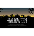 halloween background with pumpkin on hill vector image vector image