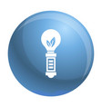 hand eco bulb icon simple style vector image vector image