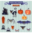 Happy Halloween stickers set for design vector image