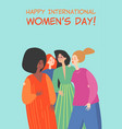 happy young women different nationalities vector image vector image