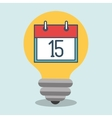 idea calendar date icon vector image