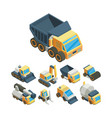 industrial machinery isometric 3d vector image vector image