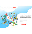 isometric flat concept of lead generation vector image