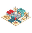 isometric transportation logistic concept vector image