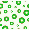 juicy seamless pattern - slices of kiwi vector image
