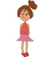latino girl cartoon character vector image vector image