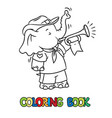 little baby elephant scout camp coloring book