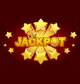 logo jackpot and shooting star vector image vector image