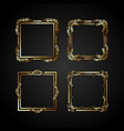 luxury gold frame vector image vector image