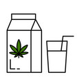 milk and hemp vector image vector image