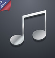 musical note music ringtone icon symbol 3D style vector image
