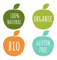 natural labels set vector image vector image