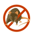 No rat sign vector image
