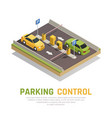 parking gate control background vector image