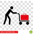 Passenger Trolley Eps Icon vector image