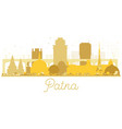 patna india city skyline golden silhouette vector image vector image