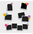 photo frame with flowers big set with transparent vector image vector image