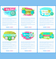 sale web posters with spring blooming flowers set vector image vector image