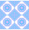 seamless pattern from round mandalas vector image vector image