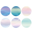 set of round background with wavy patterns vector image vector image