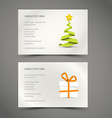 Set of Simple christmas cards vector image vector image