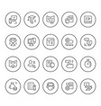 set round line icons of online education vector image vector image