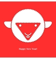 Sheep New year card vector image vector image