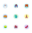 Stay in France icons set pop-art style vector image vector image