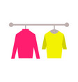 sweaters clothing store set vector image