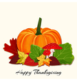 Thanksgiving Colorful Autumn Leaf with Pumpkin vector image vector image