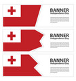 tonga flag banners collection independence day vector image vector image