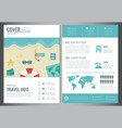 travel brochure design template for travel and vector image vector image