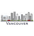 vancouver canada city skyline with gray buildings vector image vector image