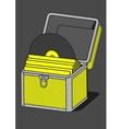 Vinyl storage case outline vector image vector image