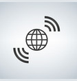 wireless world wifi earth broadband symbol of vector image