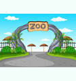 zoo entrance with no visitors vector image vector image