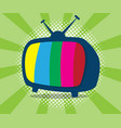 abstract television icon with half tone background vector image