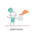 pharmacist vector image
