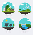 Set of icons with different types of electricity vector image